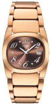 Tissot Women's T0091103329700 T-Moments Goldtone Stainless Steel Brown Dial Watch