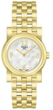 Tissot Women's T0300093311701 Stainless Steel Analog with Gold Tone Bezel Watch