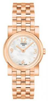 Women's Rose Gold Tone Stainless Steel Classi-T Mother Of Pearl Dial Quartz