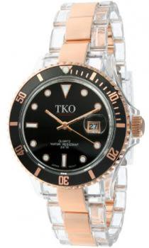 TKO ORLOGI Women's TK500-RB Venezia Steel Rosegold Plastic Case and Bracelet Watch