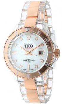 TKO ORLOGI Women's TK500-RW Venezia Steel Rosegold Plastic Case and Bracelet Watch