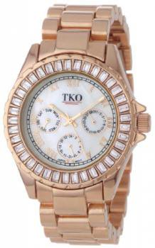 TKO ORLOGI Women's TK520-RG Capri Metal Rose Gold Swarovski Crystal Watch