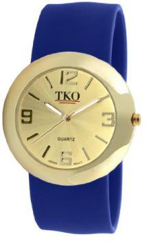 TKO ORLOGI Women's TK614-GBL Gold Slap Metal Blue Watch