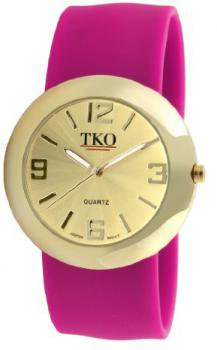TKO ORLOGI Women's TK614-GFS Gold Slap Metal Fuschia Watch