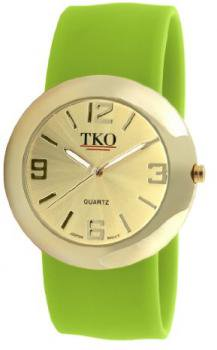 TKO ORLOGI Women's TK614-GLM Gold Slap Metal Lime Watch