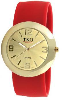 TKO ORLOGI Women's TK614-GRD Gold Slap Metal Red Watch
