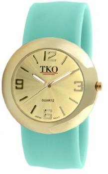 TKO ORLOGI Women's TK614-GTQ Gold Slap Metal Turquoise Watch