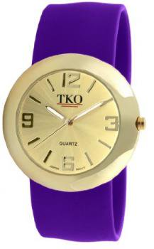 TKO ORLOGI Women's TK614-GVT Gold Slap Metal Violet Watch