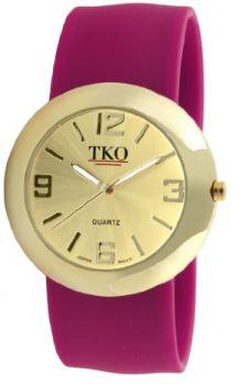TKO ORLOGI Women's TK614-GWN Gold Slap Metal Wine Watch