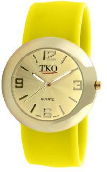 TKO ORLOGI Women's TK614-GYL Gold Slap Metal Yellow Watch