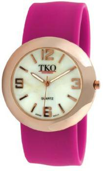 TKO ORLOGI Women's TK614-RFS Rose Gold Slap Metal Fuschia Watch