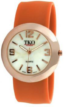 TKO ORLOGI Women's TK614-ROR Rose Gold Slap Metal Orange Watch