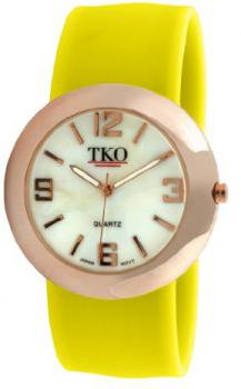 TKO ORLOGI Women's TK614-RYL Rose Gold Slap Metal Yellow Watch