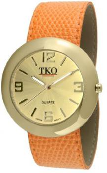 TKO ORLOGI Women's TK616-GOR Gold Orange Leather Slap Watch