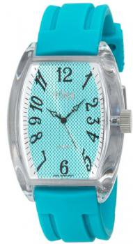 Tocs Women's 40221 Analog Oblong Turquoise Blue Watch