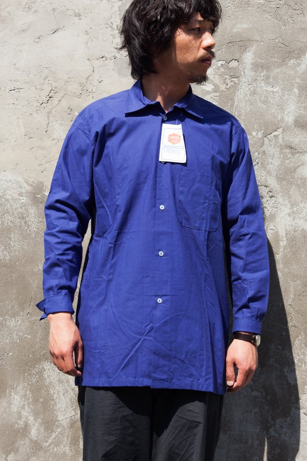 60'S FRENCH WORK LONG SHIRT