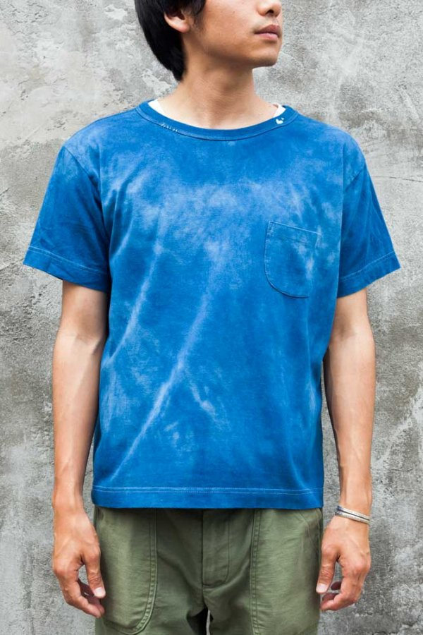 H/W POCKET T-SHIRT(INDIGO)