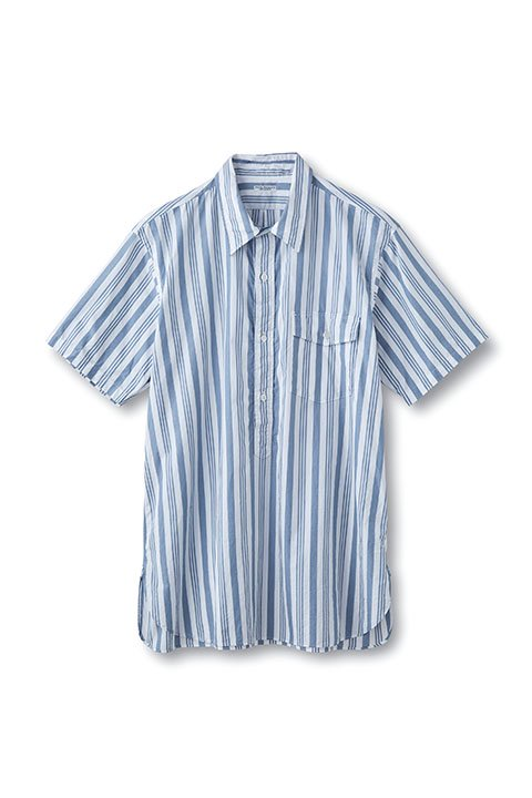 STRIPED PULLOVER S/S SHIRTS