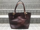 vasco LEATHER TRAVEL TOTE BAG -LARGE ブラウン