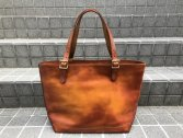vasco LEATHER TRAVEL TOTE BAG -LARGE マスタードキャメル
