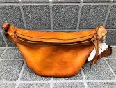 vasco LEATHER WAIST BAG -SMALL マスタードキャメル