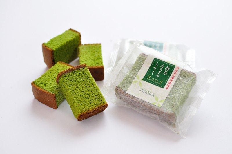 【茶游堂】抹茶カステラらすく・2本X5袋入り(化粧箱入り)