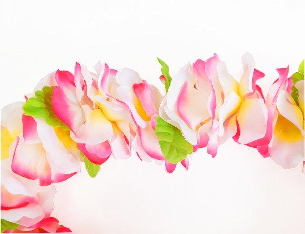 フラワーズレイ ホワイト・ふちピンク【画像2】