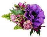 パープル(紫) アレンジ ヘアクリップ No.1118