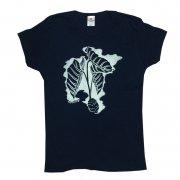 Tシャツ TUTUVI Tシャツ(柄:タロ 色:ネイビー/アイボリー)
