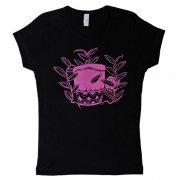 TUTUVI TUTUVI Tシャツ(柄:パフドラム 色:ブラック/ピンク)