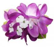 パープル(紫) Eプルメリア ヘアクリップ パープル