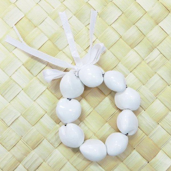 カラーククイナッツブレスレット  ホワイト