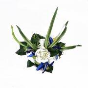 ヘアクリップ(髪飾り) アレンジ ヘアクリップ CC-1160 ローズ ホワイト ブルー