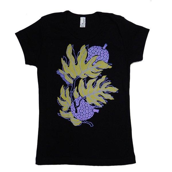 TUTUVI Tシャツ(柄:ウル 色:ブラック)