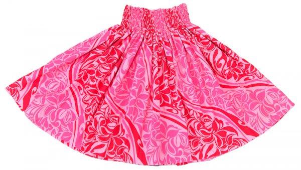 【送料無料】お仕立て上がり現品 丈70cm ハワイアンファブリック パウスカート ピンク