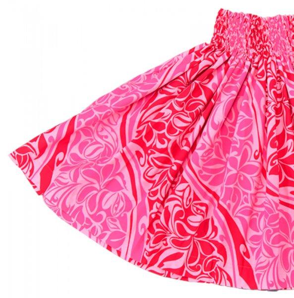 【送料無料】お仕立て上がり現品 丈70cm ハワイアンファブリック パウスカート ピンク【画像2】