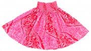 パウ ピンク 【送料無料】お仕立て上がり現品 丈70cm ハワイアンファブリック パウスカート ピンク