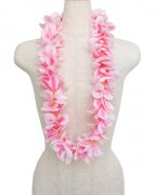 フラダンス用品 色で選びたい アロハプルメリアシングルレイ ピンク