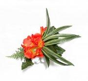 フラダンス用品 色で選びたい アレンジ ヘアクリップ KC-060  オレンジ ホワイト グリーン
