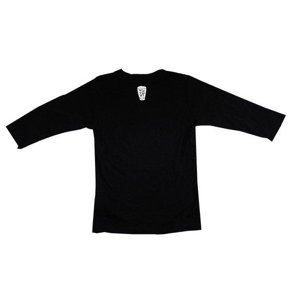 TUTUVI 七分袖Tシャツ(柄:トーチジンジャー 色:ブラック)【画像4】