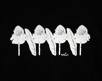 TUTUVI 七分袖Tシャツ(柄:トーチジンジャー 色:ブラック)【画像5】