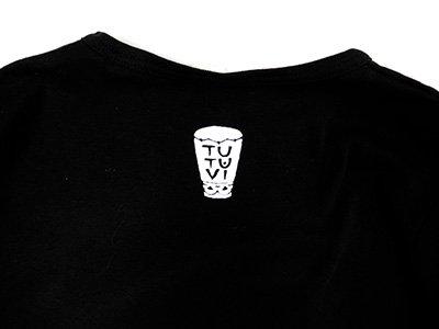 TUTUVI 七分袖Tシャツ(柄:トーチジンジャー 色:ブラック)【画像6】