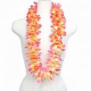 フラダンス用品 色で選びたい シルクプルメリアレイ ラージ  オレンジ ピンク