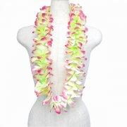 フラダンス用品 色で選びたい シルクプルメリアレイ ラージ グリーン ピンク