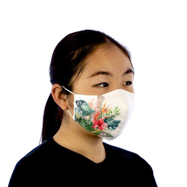 マスク 布製 送料無料 トロピカルガーデン ホワイト 【画像6】