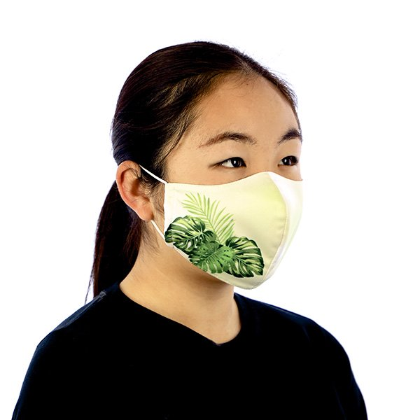 マスク 布製 送料無料 モンステラ ライトグリーン【画像4】