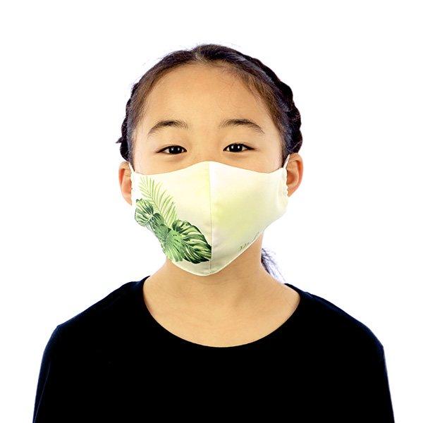 マスク 布製 送料無料 モンステラ ライトグリーン【画像5】