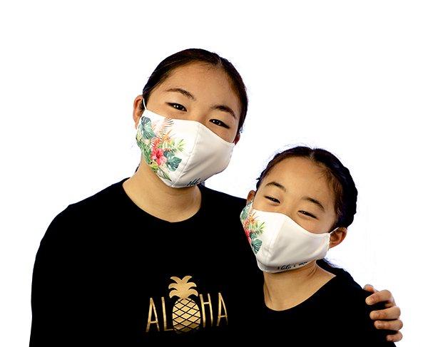 マスク 布製 送料無料 レースプリント ペパーミントグリーン【画像13】