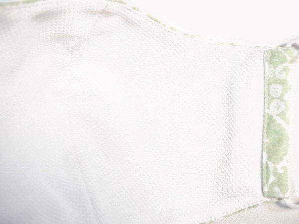 マスク 布製 送料無料 レースプリント ペパーミントグリーン【画像3】
