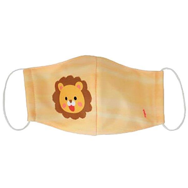 子供マスク 布製 送料無料 ライオン イエロー